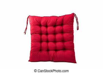 chaise, isolé, coussin