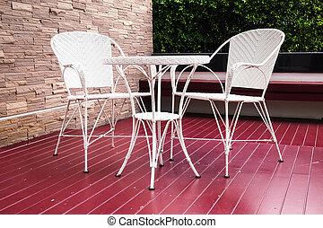 chaise, jardin