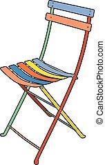 chaise, jardin, multi-coloré