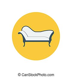 Chaise lounge armchair seat