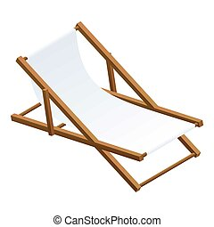 Chaise lounge icon, isometric style