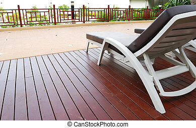 Chaise Lounge patio - Patio with chaise lounges near luxury...