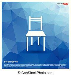 chaise, meubles, icône