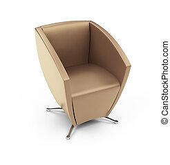 chaise, moderne, blanc, contre