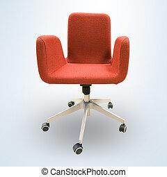 chaise, moderne, bureau