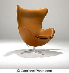 chaise, moderne, mi, siècle