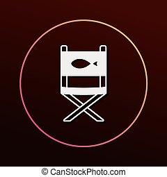 chaise, peche, icône
