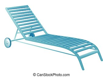 chaise, piscine, natation