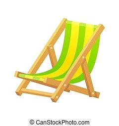 chaise, plage, illustration