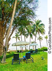 chaise plage, jardin