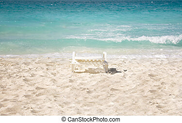 chaise, plage