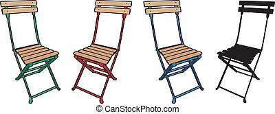 chaise, plier