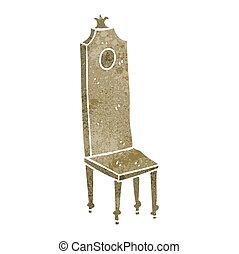 chaise, retro, fantaisie, dessin animé