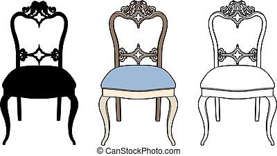 chaise, romantique