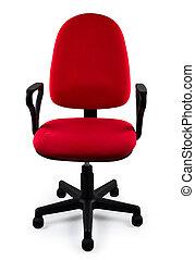 chaise, rouges, bureau