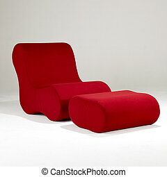 chaise, rouges