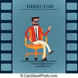 chaise, séance, homme