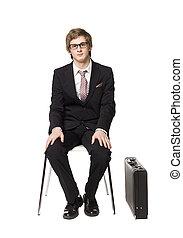 chaise, séance homme