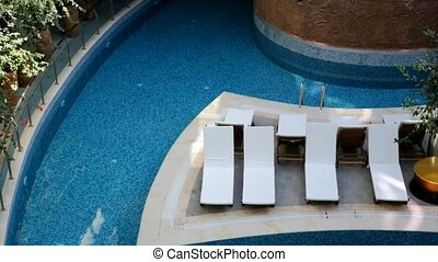 chaise, salons, piscine, natation