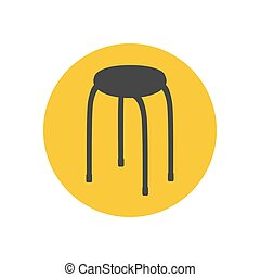 chaise, silhouette, cuisine