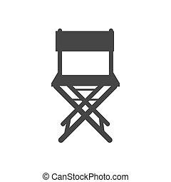 chaise, silhouette, icône
