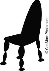chaise, silhouette