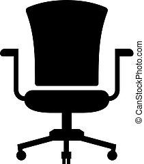 chaise, tâche, ou, bureau