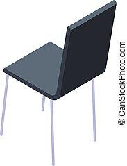 chaise, vétérinaire, style, isométrique, icône