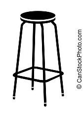 chaise, vecteur, barre, illustration