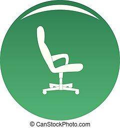 chaise, vecteur, vert, invité, icône