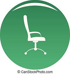 chaise, vecteur, vert, masage, icône
