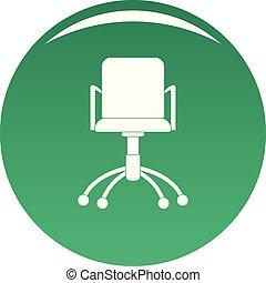 chaise verte, vecteur, icône ordinateur