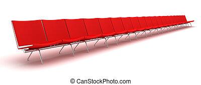 chaises, attente