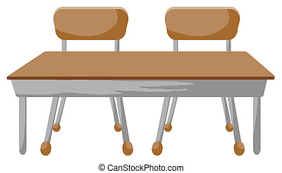 chaises, bureau