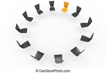 chaises, circle.