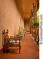 chaises, couloir