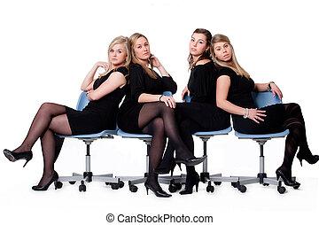 chaises, dames, 4