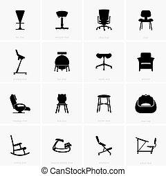 chaises, ensemble