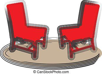chaises, illustration