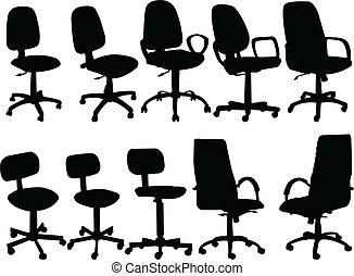 chaises, informatique, collection