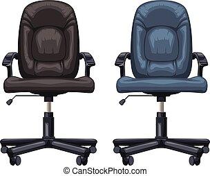 chaises, isolé, bureau
