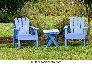 chaises, jardin