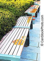 chaises, park., -, bancs