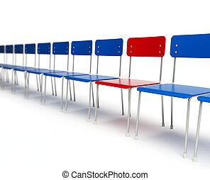 chaises, rang