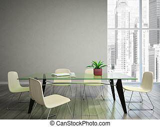 chaises, souhait, salle manger, tabel