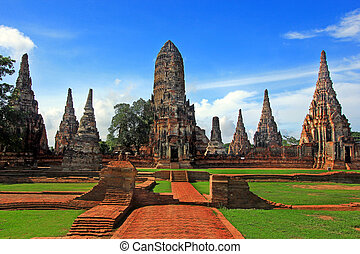Chaiwattanaram temple in Ayutthaya Historical Park, Thailand