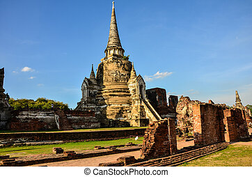 Chaiwatthanaram temple in Ayutthaya Historical Park ,