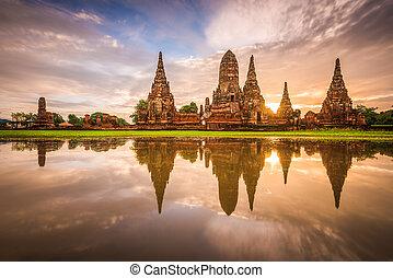 chaiwatthanaram, thaïlande, ayutthaya, wat