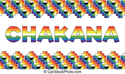 chakana, immagine, adornato, fondo., chakanas, andino,...