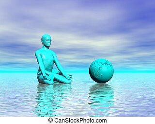 chakra , γαλάζιο αγίνωτος